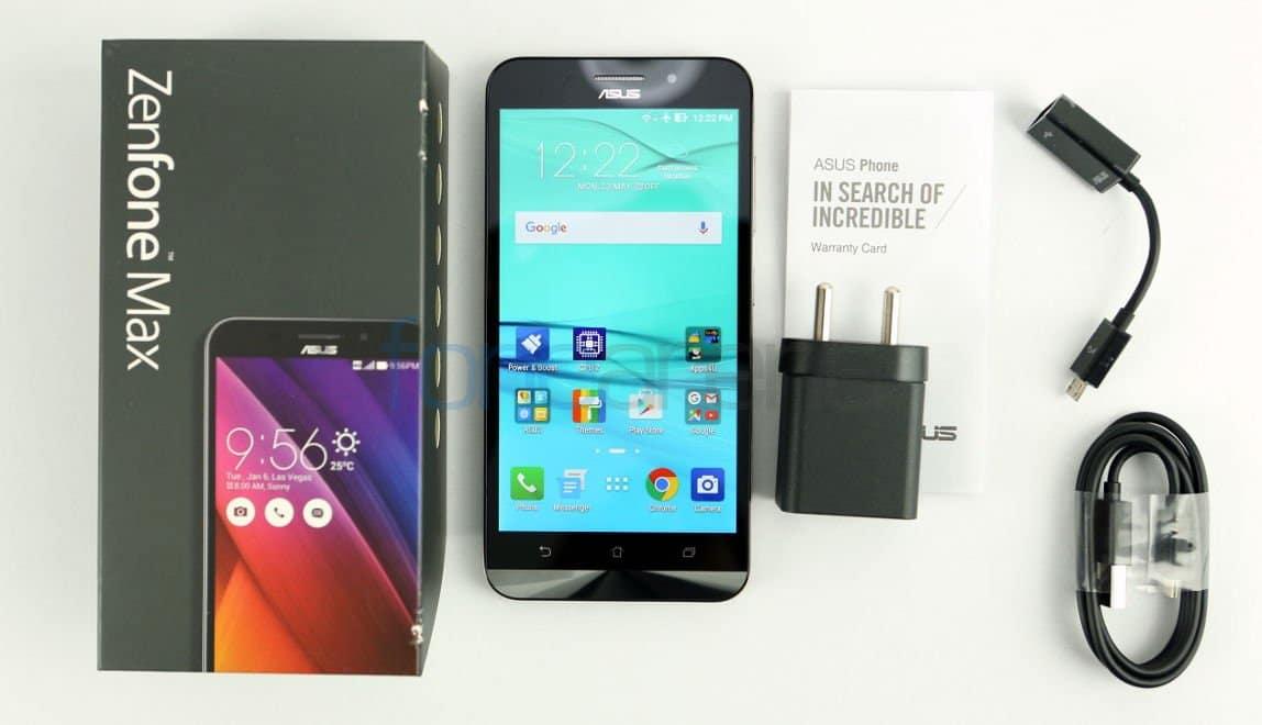 Asus Zenfone Max Box Accessories