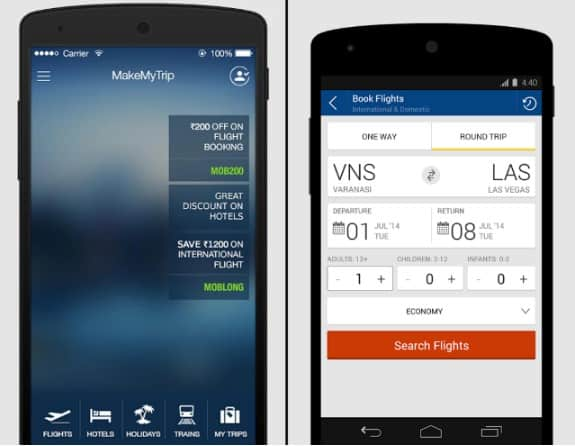 Booking flights via mobile apps for better Traveling