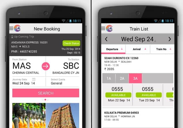 IRCTC service in India