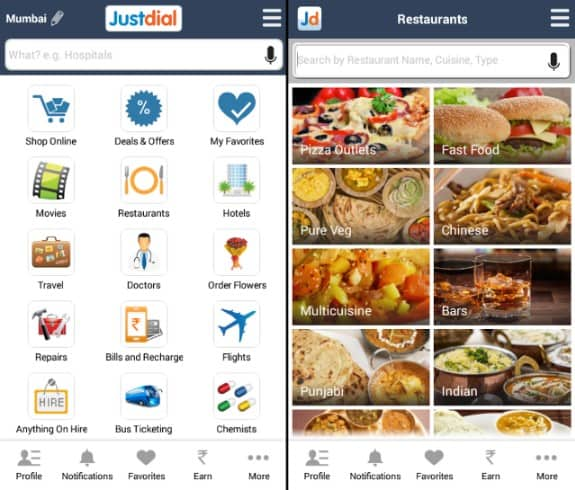 JustDial - Food, Events and Information