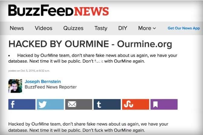 OurMine Buzzfeed Breach