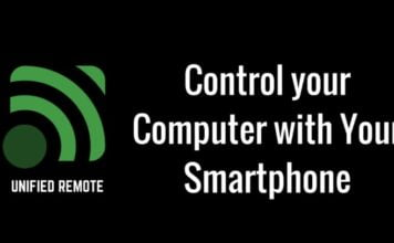 Unified Remote Control you pc with smarrtphone