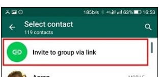 Get Public Link to a Group Chat