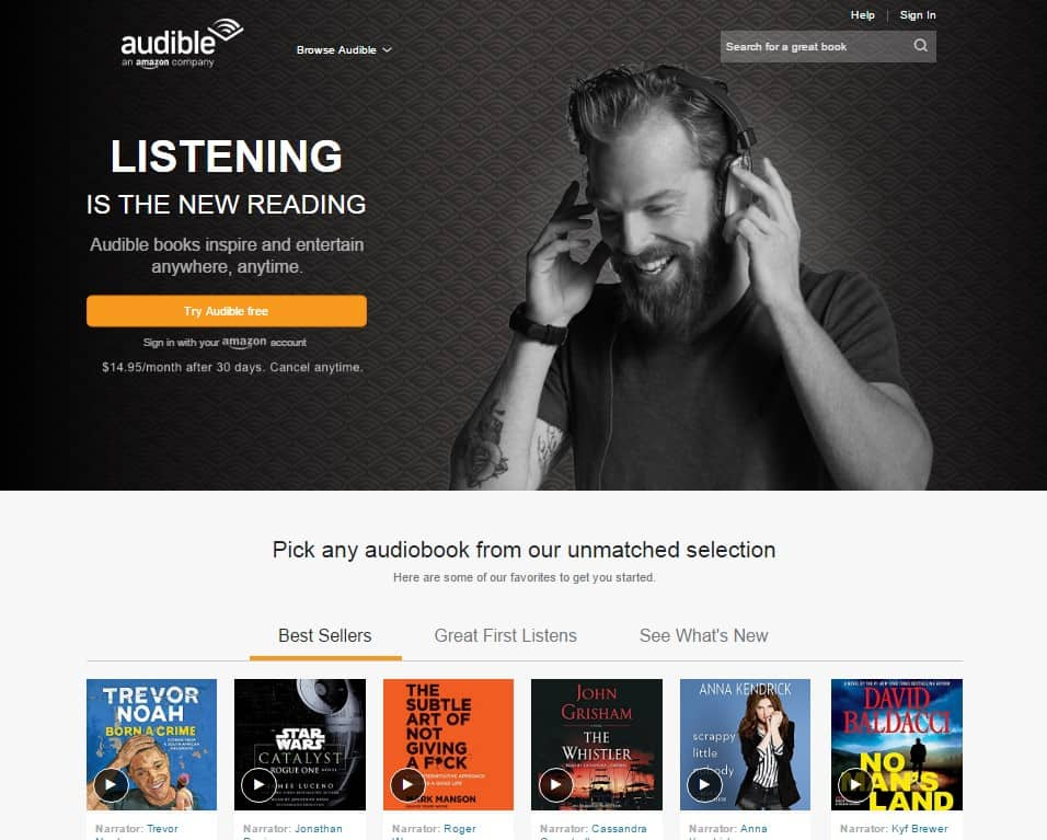 Websites an Avid Reader Must Know - Audible