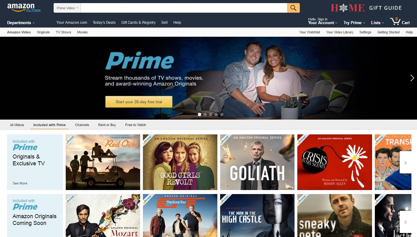Amazon Prime Instant Video - The Best Websites on the Internet for Movies