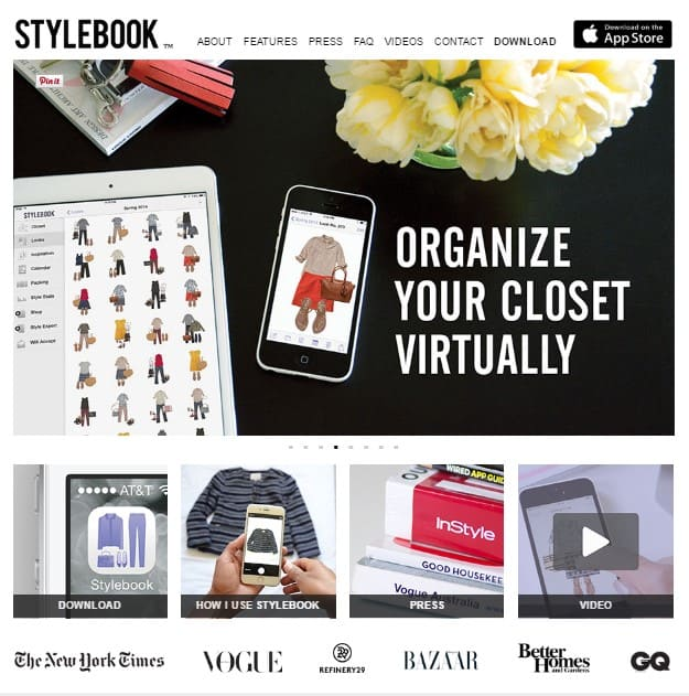 Stylebook to find the perfect outfit