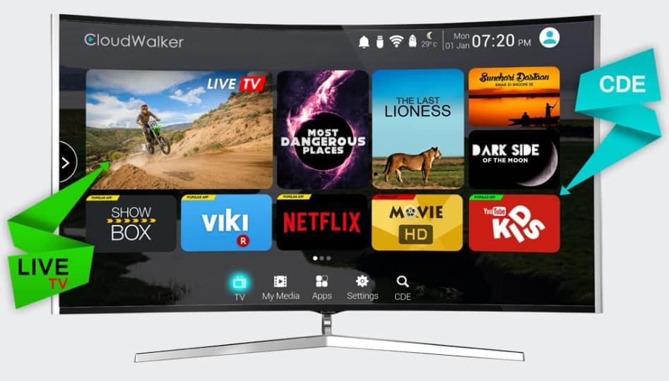 CloudWalker launches Cloud TV for unlimited digital entertainment