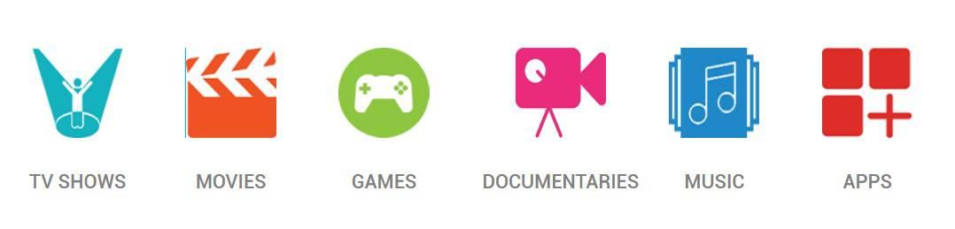 CloudWalker Cloud TV Content Categories