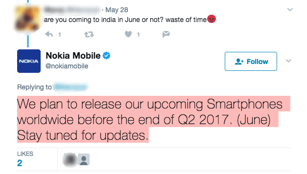Nokia 3, Nokia 5 and Nokia 6 to be on sale in India by mid-June 1