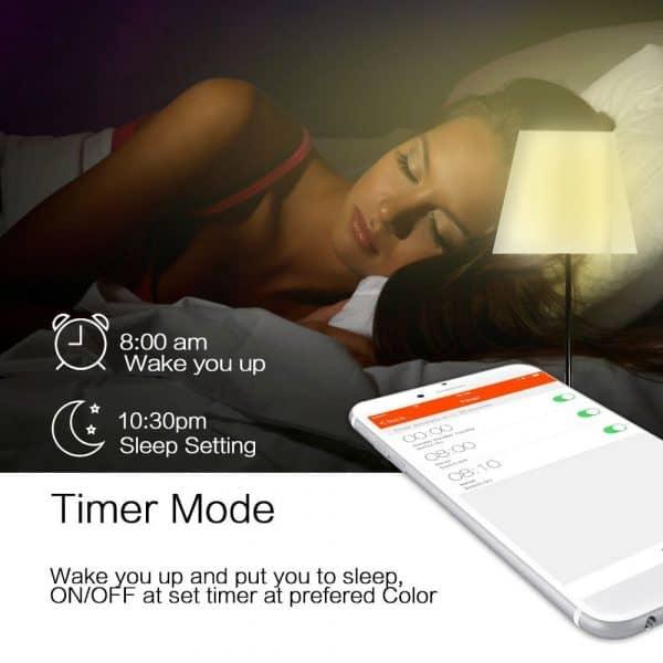 smart led bulb wake up gadget