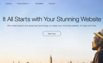 wix website builder 1