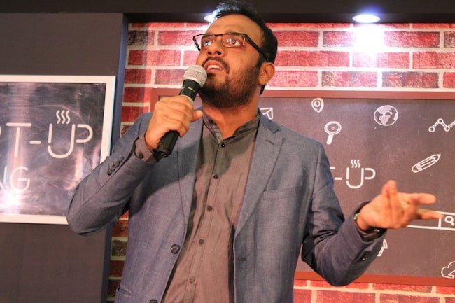 standup comedy at axis bank event