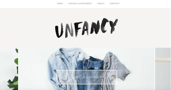 unfancy minimalistic wordpress site