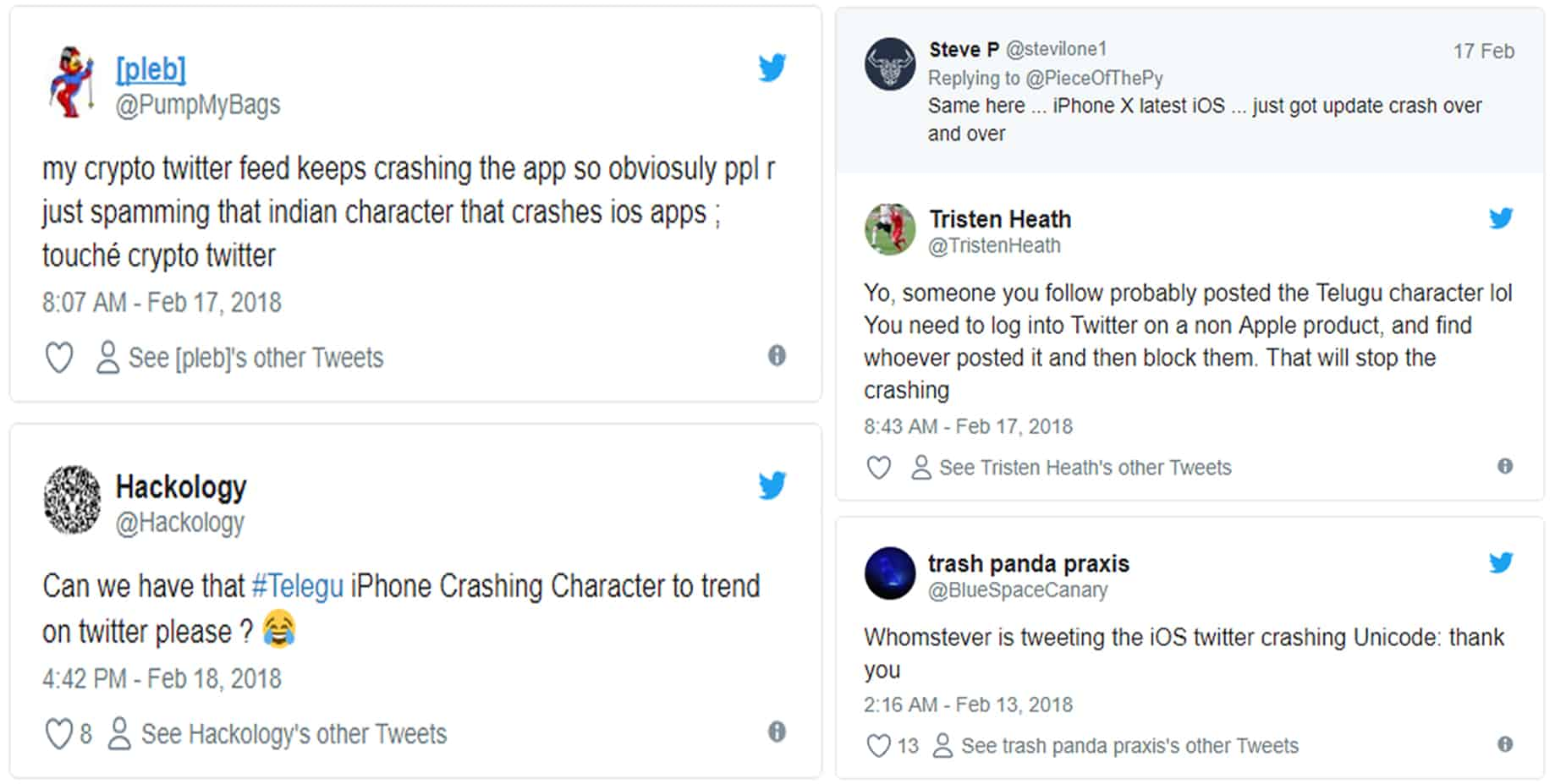 TECHGYO_Trolls in Twitter Have Induced a New Bug causing Repeated Crash in iPhones