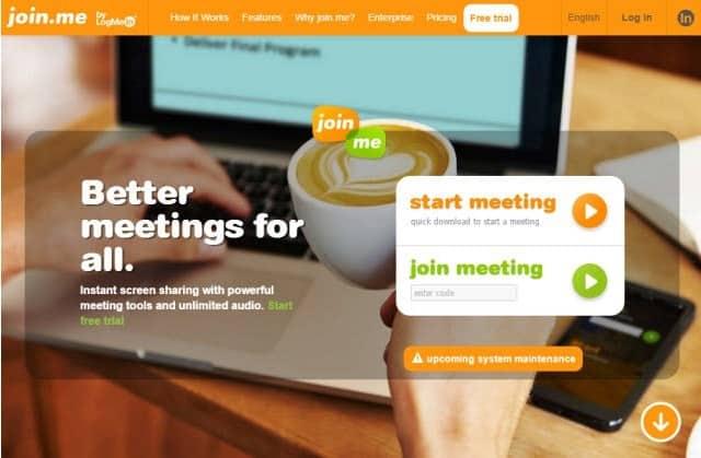 Join. me teamviewer alternative