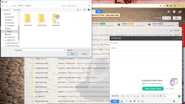Sending files using gmail