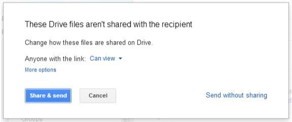 Sharing files using google drive