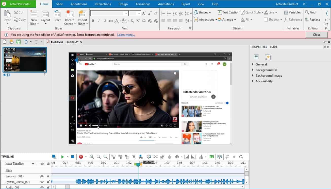 Active Presenter Screen recorder