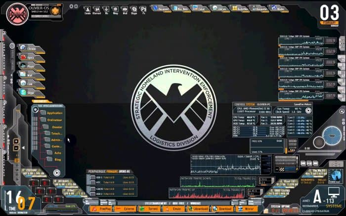Avengers SHIELD OS Rainmeter Skin