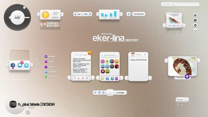 Eker Lina Rainmeter Skin