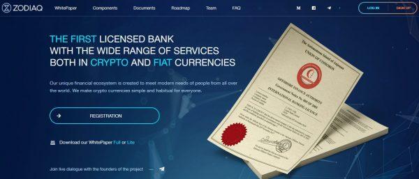 Zodiaq ICO ( ZOD TOKEN): crypto and fiat banking blockchain 4