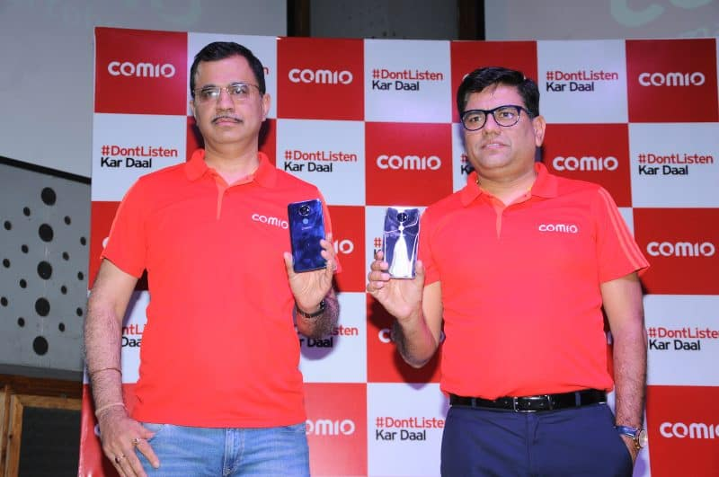Mr. Sumit Sehgal, Chief Marketing Officer, COMIO Smartphones_ Mr. Sanjay Kalirona, CEO & Director