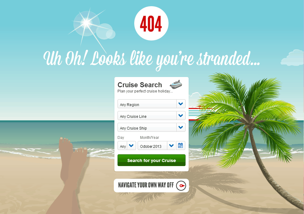 The Art of Making Awesome 404 Error Page 5