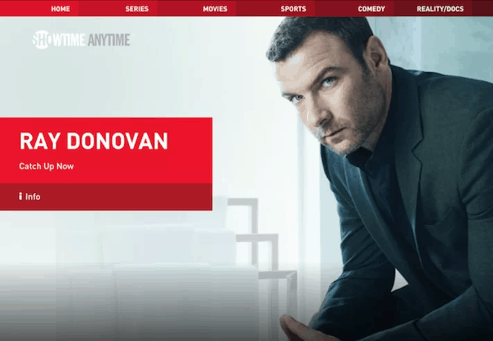 Showtime Anytime Homepage