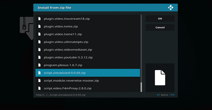 How to Install Ares Wizard on Kodi 12