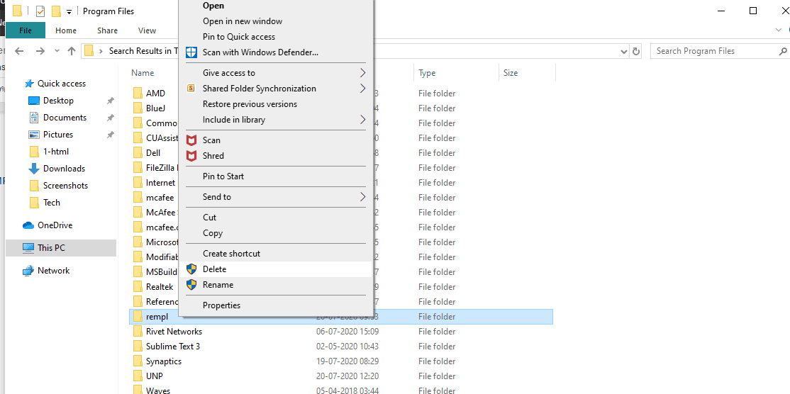 What Is the Rempl Folder in Windows 10. Why would you want to delete it? 4