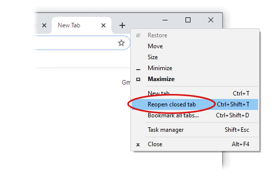 How to Quickly Restore Last Chrome Session or Closed Tabs 6