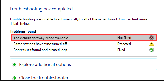 "How to fix ""The default gateway is not available"" error? 2"