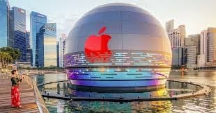 floating Apple store