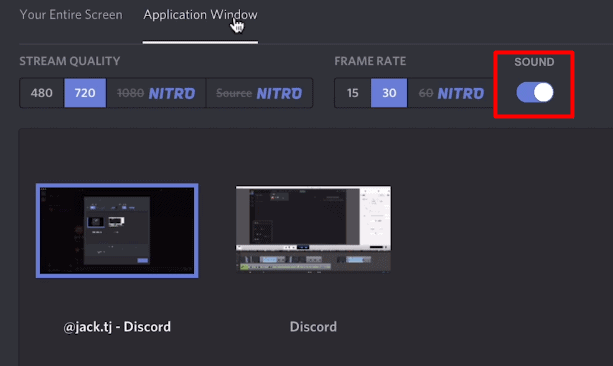 discord screen share