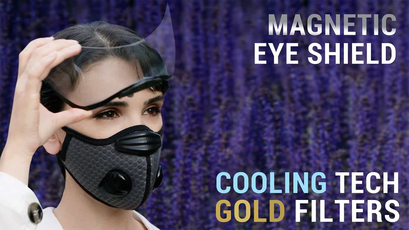 face mask with cooling technology