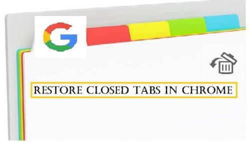 recently closed tabs chrome