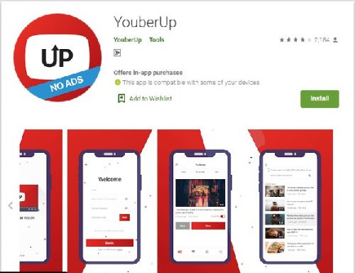 YouberUp android app Review free youtube subscribers