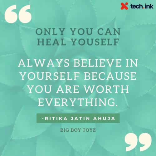 healing yourself Ritika Jatin Ahuja