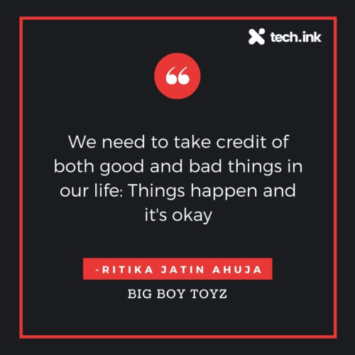 Ritika Jatin Ahuja  quote good and bad things