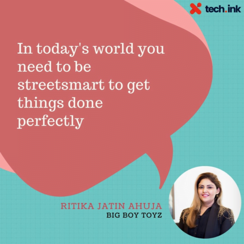 Ritika Jatin Ahuja quote on streetsmart
