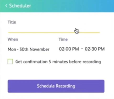 vmaker recording scheduler