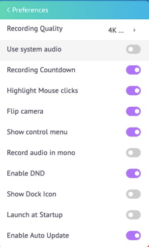 vmaker software settings