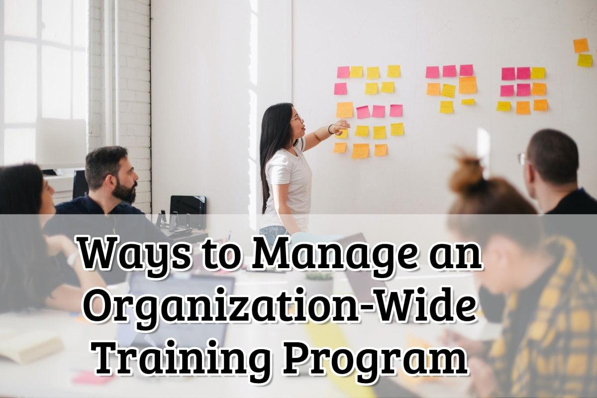 Organisation training program