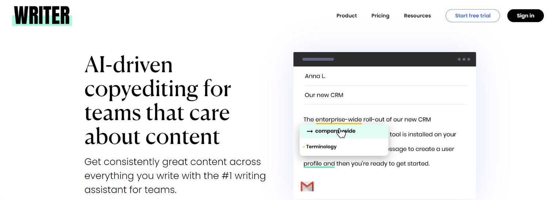 writer  vs grammarly