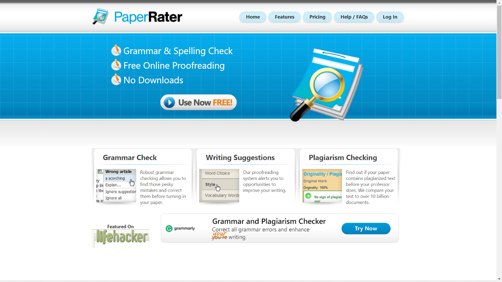 Paper rater app  vs grammarly